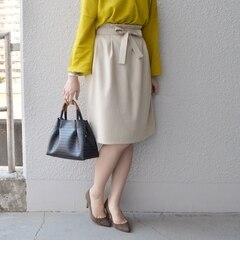 【シップス/SHIPS】【店舗限定】リボンベルトコクーンスカート◆[送料無料]