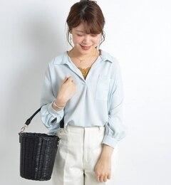 【シップス/SHIPS】ポケットスキッパーシャツ[送料無料]