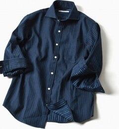 【シップス/SHIPS】SC:17SSカラミセミワイドカラー7スリーブシャツ[送料無料]