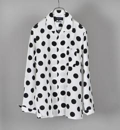【シップス/SHIPS】SHIPSJETBLUE:オープンカラードットシャツ[送料無料]