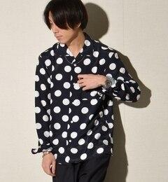 【シップス/SHIPS】 SHIPS JET BLUE: オープンカラー ドットシャツ [送料無料]
