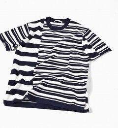 【シップス/SHIPS】 SC: クレイジー/ボーダー ニット Tシャツ [送料無料]