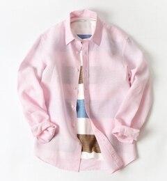 【シップス/SHIPS】 SC: 【BAIRD MCNUTT】 アイリッシュリネン レギュラーカラーシャツ [送料無料]