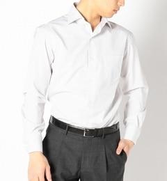 【シップス/SHIPS】 SD: 【ALBINI社製生地】 ピンストライプ ワイドカラーシャツ(グレー) [送料無料]