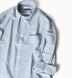 【シップス/SHIPS】 SC: 17SS インディゴ レギュラーカラー 7スリーブシャツ [送料無料]