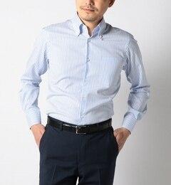 【シップス/SHIPS】SD:【GIZAコットン】ロンドンストライプボタンダウンシャツ(ブルー)[送料無料]