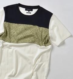 【シップス/SHIPS】 SHIPS JET BLUE: パッチワーク パネルTシャツ [3000円(税込)以上で送料無料]