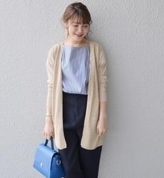 【シップス/SHIPS】 コットンレーヨンペーパーリボンカーディガン◆ [送料無料]