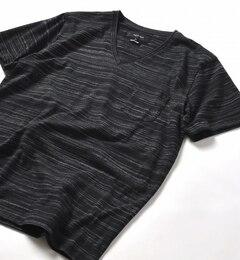 【シップス/SHIPS】 SHIPS JET BLUE: コブラボーダー VネックTシャツ [3000円(税込)以上で送料無料]
