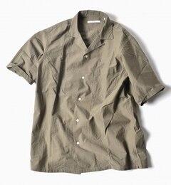 """【シップス/SHIPS】SC:コットンタイプライターリラックスオープンカラーシャツ""""5分袖""""[送料無料]"""