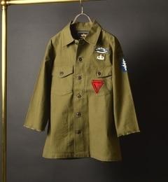 【シップス/SHIPS】 ALPHA: エクスクルーシブ ワイドユーティリティシャツ [送料無料]