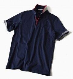 【シップス/SHIPS】 SC: 17SS リブ/スキッパー ショートスリーブ ポロシャツ [送料無料]
