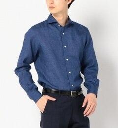 【シップス/SHIPS】 SD: 【ALBINI社製生地】 ウォッシュド リネン シャツ (ブルー) [送料無料]