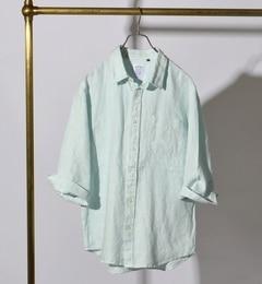 【シップス/SHIPS】 SHIPS JET BLUE: オーバーダイ リネン7スリーブシャツ [送料無料]