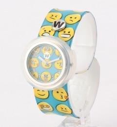 <アイルミネ> ★送料無料!watchitude:パッチン腕時計(HAPPY)画像