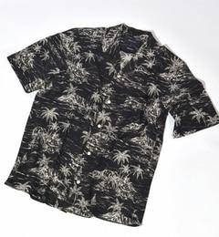 【シップス/SHIPS】 SHIPS JET BLUE: パターン オープンカラーシャツ 【半袖】 [送料無料]