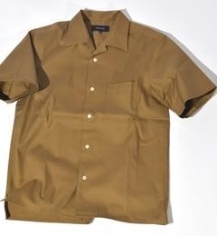 【シップス/SHIPS】 SHIPS JET BLUE: コットン/リネン ツイル オープンカラーシャツ【半袖】 [送料無料]
