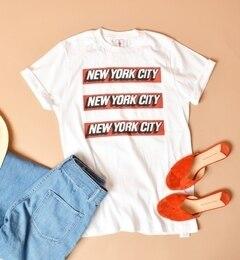 【シップス/SHIPS】 General mean T-shirt:NYC TEE white [送料無料]