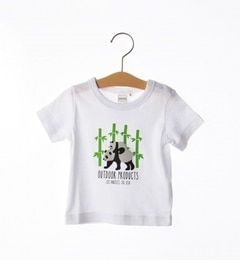 OUTDOOR PRODUCTS×SHIPS:TEE(80~90cm)【シップス/SHIPS キッズ Tシャツ・カットソー ホワイト ルミネ LUMINE】