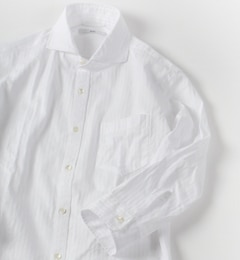 【シップス/SHIPS】 SC: サテン/カラミ セミワイドカラー 7スリーブシャツ [送料無料]