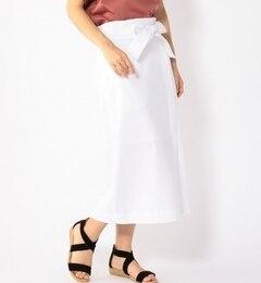 【シップス/SHIPS】 ホワイトデニムリボンベルトスカート-1797 [送料無料]