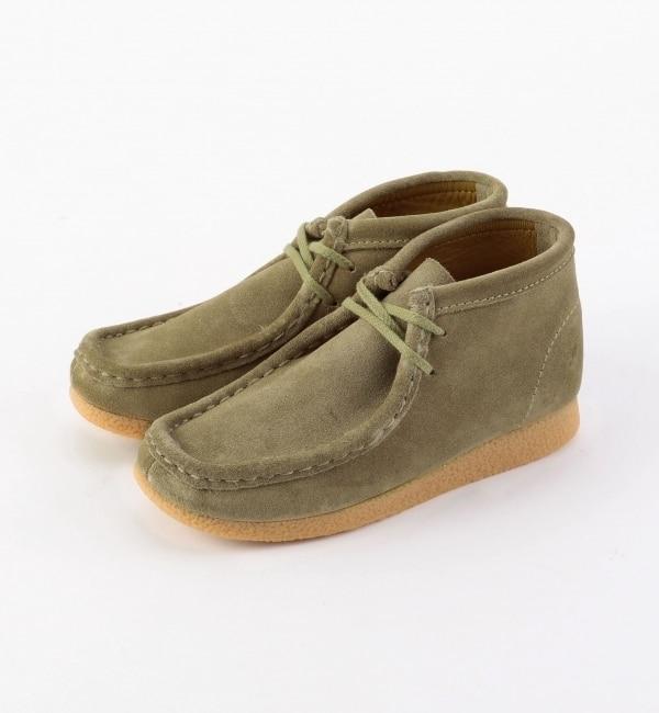 Clarks:WALLABEE BOOTS(kids)【シップス/SHIPS キッズ ショートブーツ ベージュ ルミネ LUMINE】