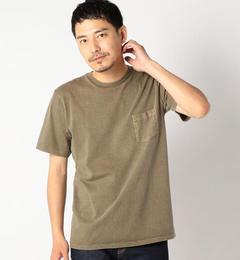 <アイルミネ> VELVA SHEEN: ピグメント クルーネック ポケットTシャツ画像