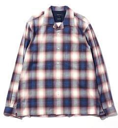 【シップス/SHIPS】 SHIPS JET BLUE: キャンプカラー オンブレチェックシャツ [送料無料]