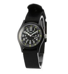 MWC: 【W-113QTZ】ミリタリーウォッチ【シップス/SHIPS メンズ 腕時計 ブラック ルミネ LUMINE】