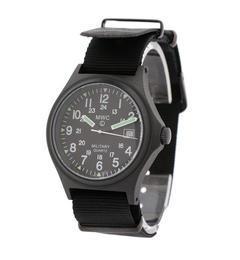 MWC: 【G10BH12】ミリタリーウォッチ【シップス/SHIPS メンズ 腕時計 ブラック ルミネ LUMINE】