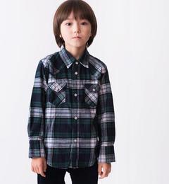 【シップス/SHIPS】 SHIPS KIDS:チェック ウエスタン シャツ(100?130cm) [送料無料]