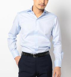 【シップス/SHIPS】 SD: ALBINI社製生地 ドビーストライプ ホリゾンタルカラーシャツ(ブルー) [送料無料]