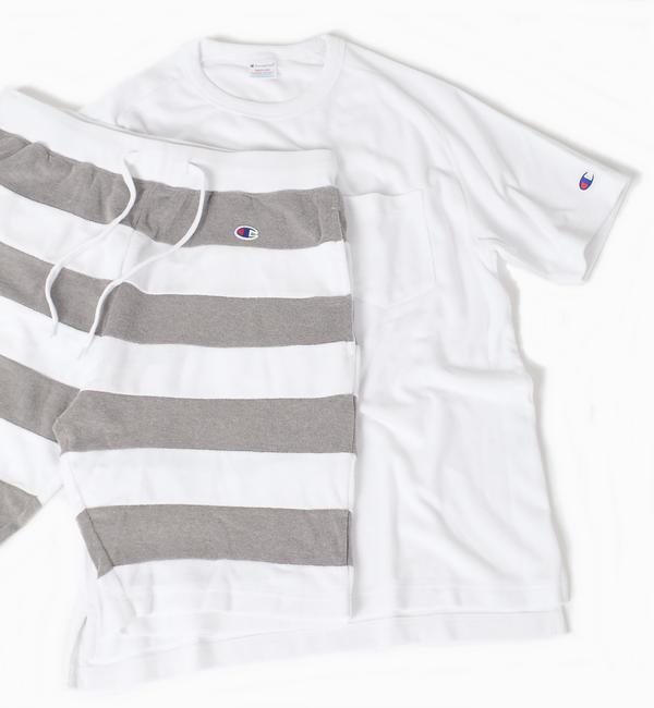 【シップス/SHIPS】 Champion×SHIPS: 別注 セットアップ パイル Tシャツ×ショーツ [送料無料]