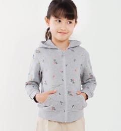 <アイルミネ> シップス厳選 SHIPS KIDS:フラワー 刺繍 パーカー(100〜130cm) [送料無料]画像