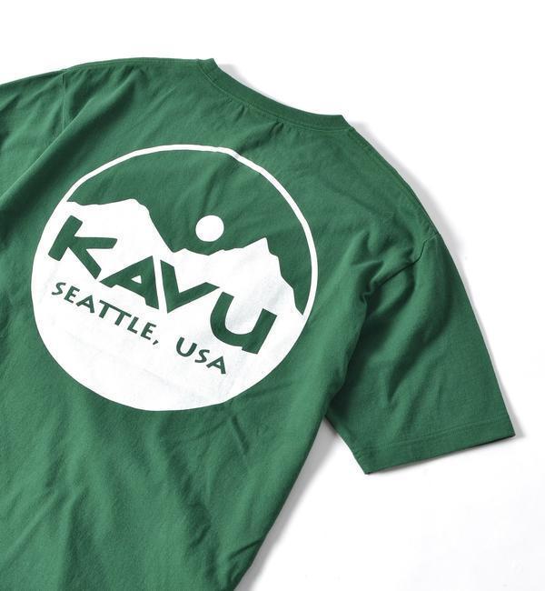KAVU×SHIPS JET BLUE: 別注 クラシックロゴTシャツ【シップス/SHIPS メンズ Tシャツ・カットソー グリーン ルミネ LUMINE】