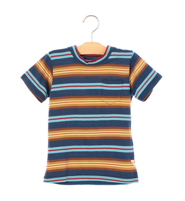 melple:ボーダー TEE(100~160cm)【シップス/SHIPS キッズ Tシャツ・カットソー ネイビー ルミネ LUMINE】