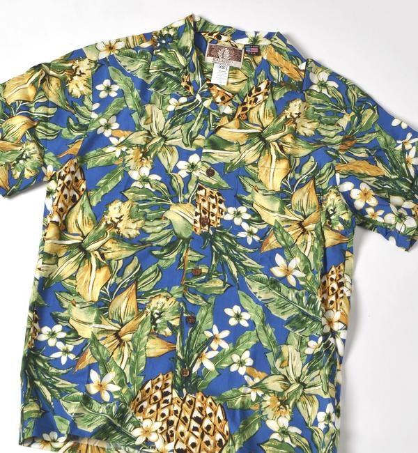 【シップス/SHIPS】 ROBERT J.CLANCEY: レーヨン アロハシャツ