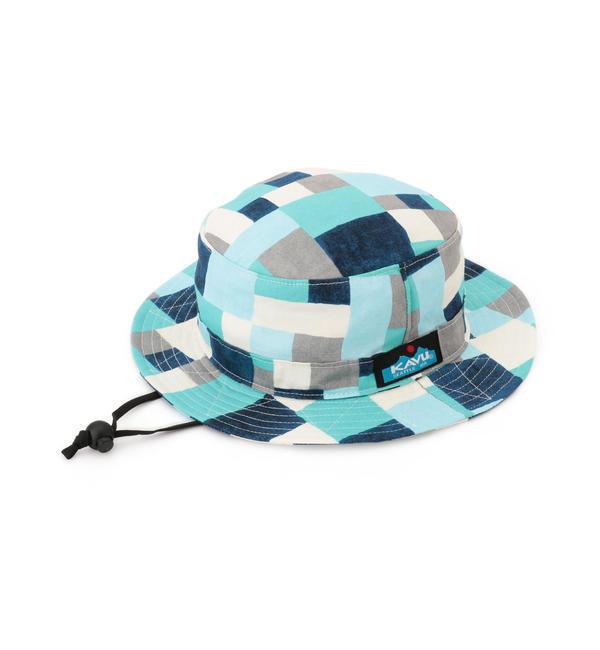 KAVU(カブー):チェック バケット ハット【シップス/SHIPS キッズ ハット ブルー ルミネ LUMINE】