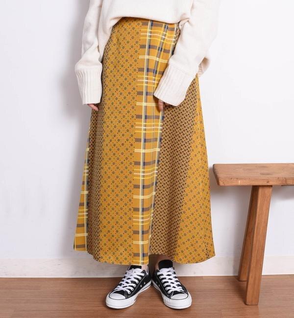 【シップス/SHIPS】 パネルプリントマキシスカート◇'s image