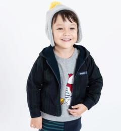 <アイルミネ> SHIPS KIDS:リバーシブル ジップアップ シャツ パーカー(ネイビー)(80〜90cm) /SHIPS画像