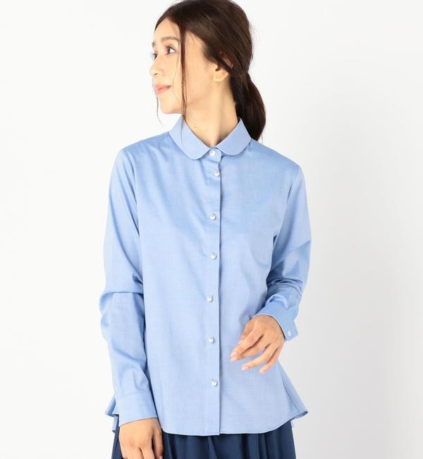 【シップス/SHIPS】 ALANI THE GREY:バックペプラムシャツ