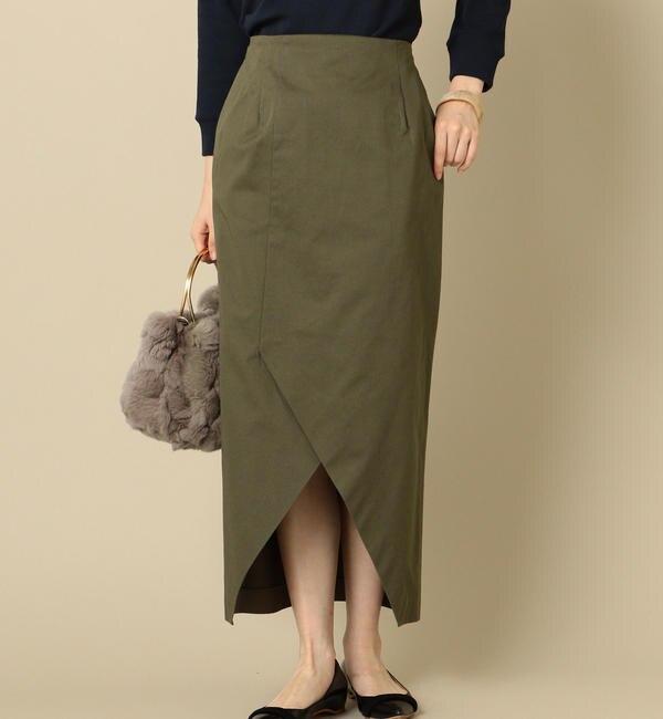 【シップス/SHIPS】 Prefer SHIPS:チノフロントスリットタイトスカート's image
