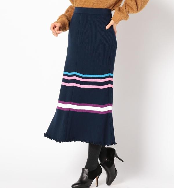 【シップス/SHIPS】 ACASAM:リブラインスカート