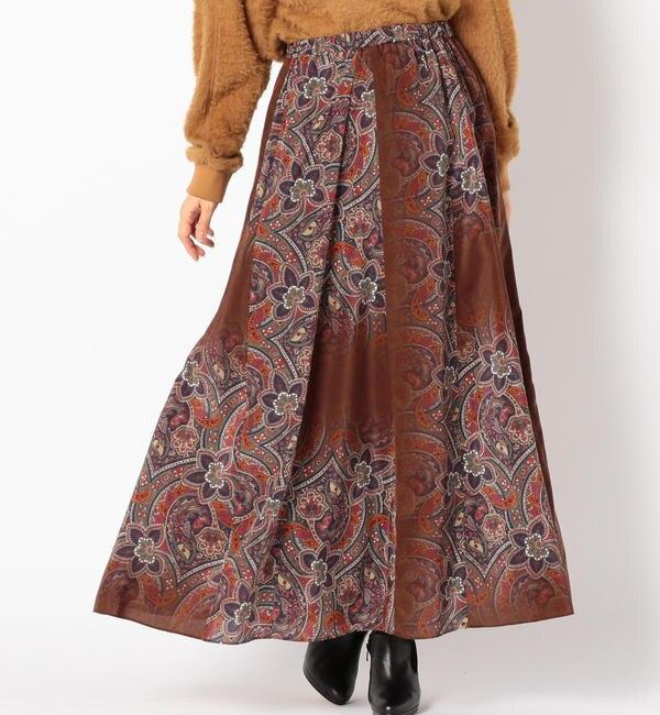 【シップス/SHIPS】 5-knot:ペイズリースカート