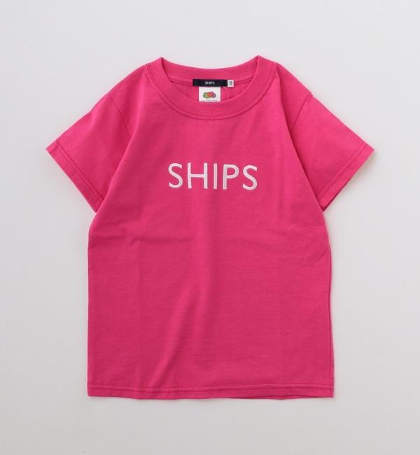 【シップス/SHIPS】 FRUIT OF THE LOOM:<ファミリーおそろい>【SHIPS別注】ロゴ T(90?145cm)