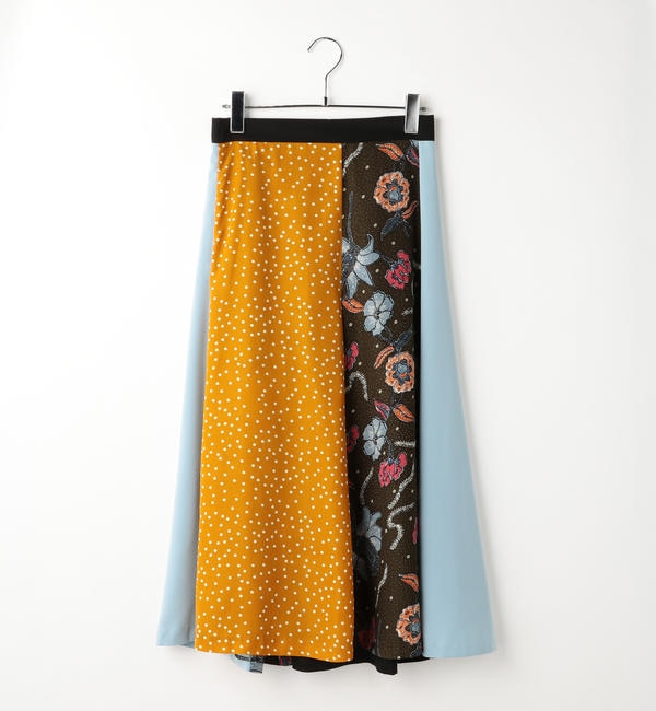 【シップス/SHIPS】 GHOSPELL:ミックスプリントスカート