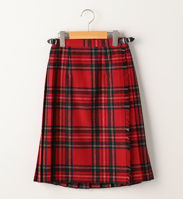 【シップス/SHIPS】 O'NEIL OF DUBLIN:ウール キルト スカート(140cm)