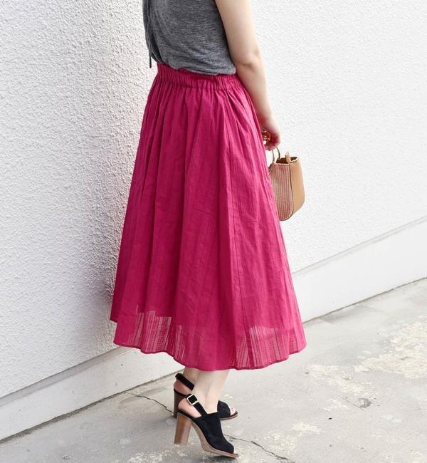 【シップス/SHIPS】 Khaju:コットンドビースカート