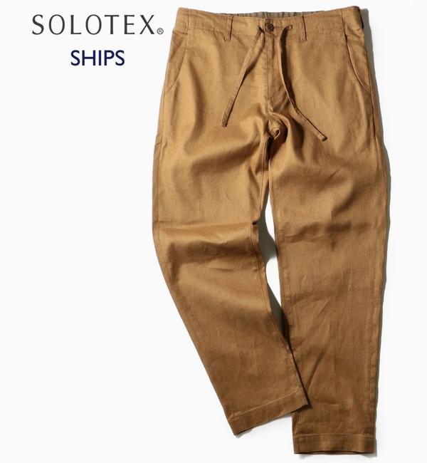 【シップス/SHIPS】 SC: SOLOTEX(R) サフィラン リネン ハイブリッド イージー パンツ