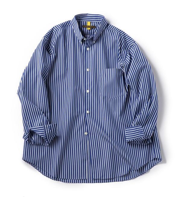 【シップス/SHIPS】 BENCH MARKING SHIRTS: ボタンダウン ストライプ シャツ